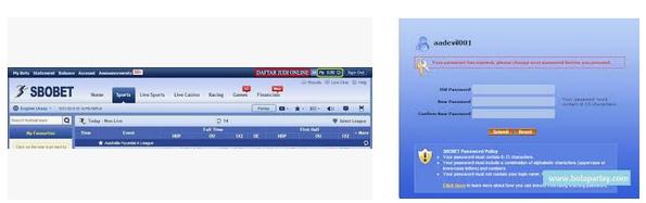 Cara ganti password di situs agen resmi sbobet