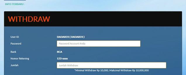 Cara mengakses withdraw sbobet online